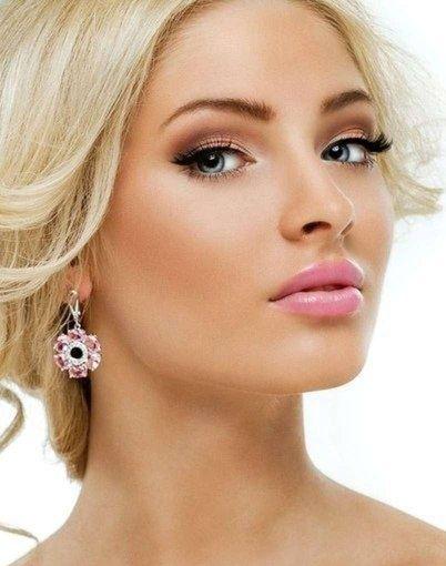 Фото макияж блондинкам с зелеными глазами