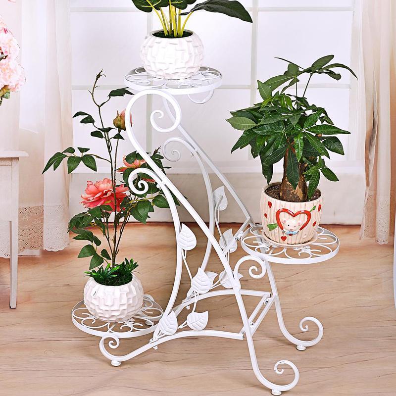 Белые подставки под цветы
