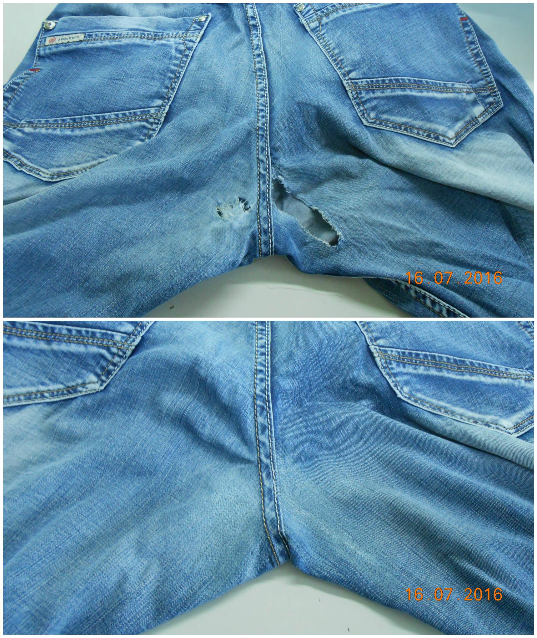 Как ушить самому джинсы