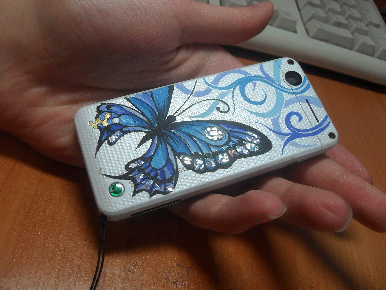 Рисунки на крышки телефона своими руками
