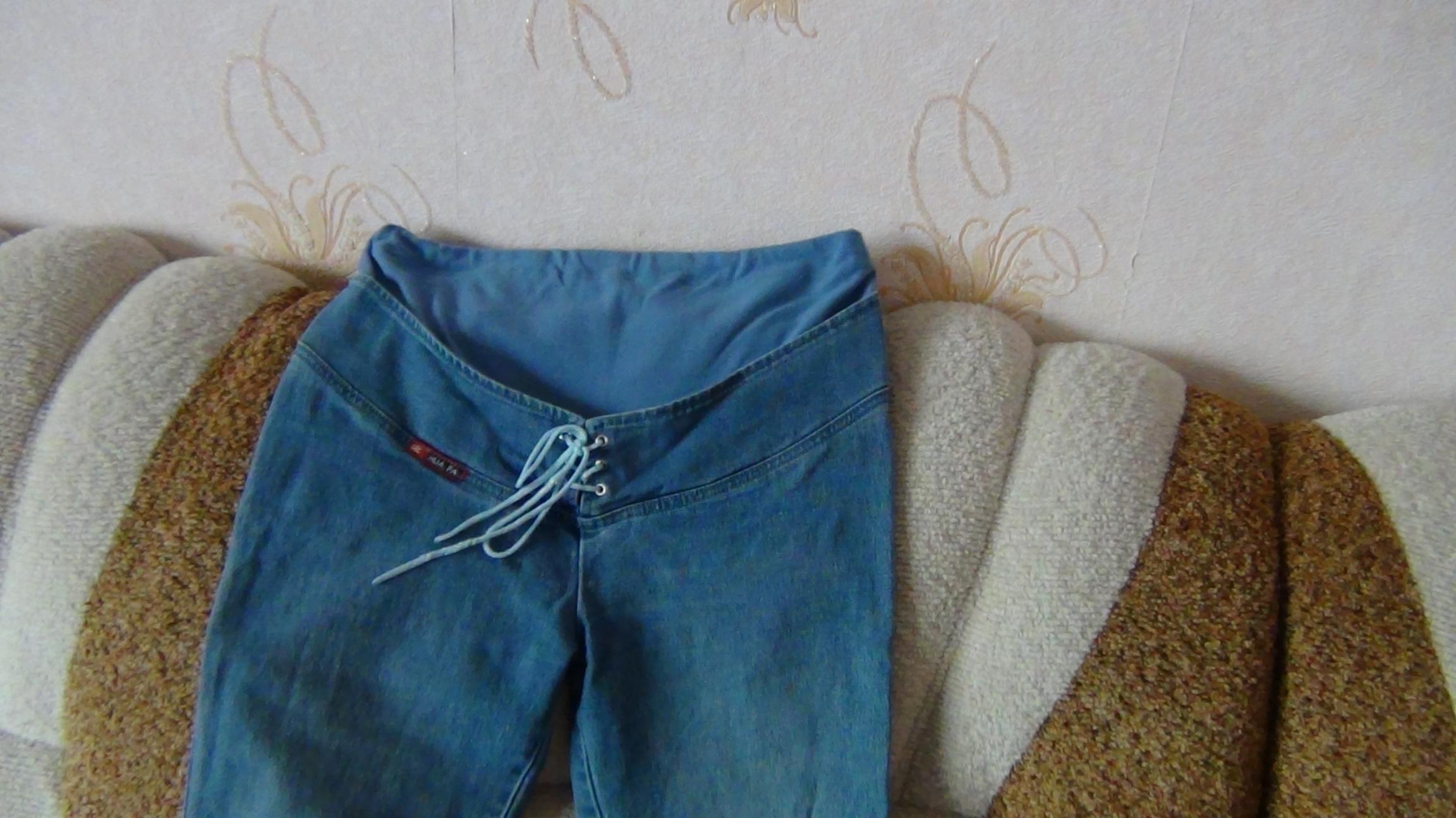 Как из обычных джинс сделать джинсы для беременной 518
