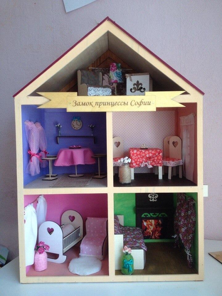 Кукольный домик своими руками пошаговое фото 56
