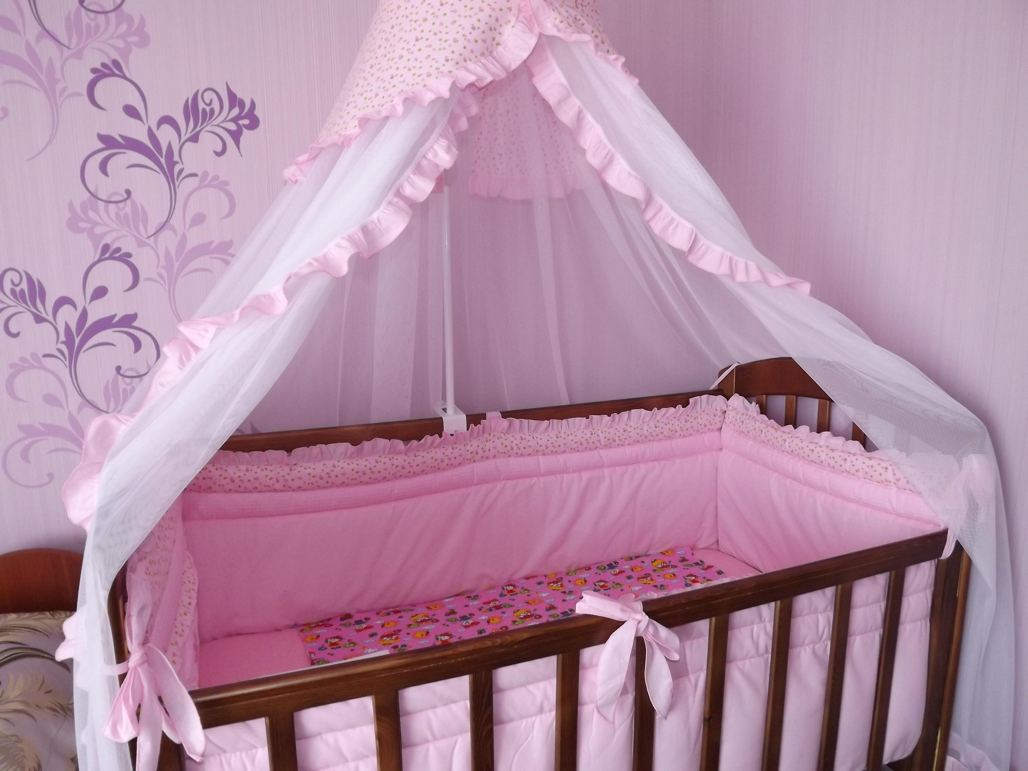 Кроватка с балдахином для новорожденного своими руками 13