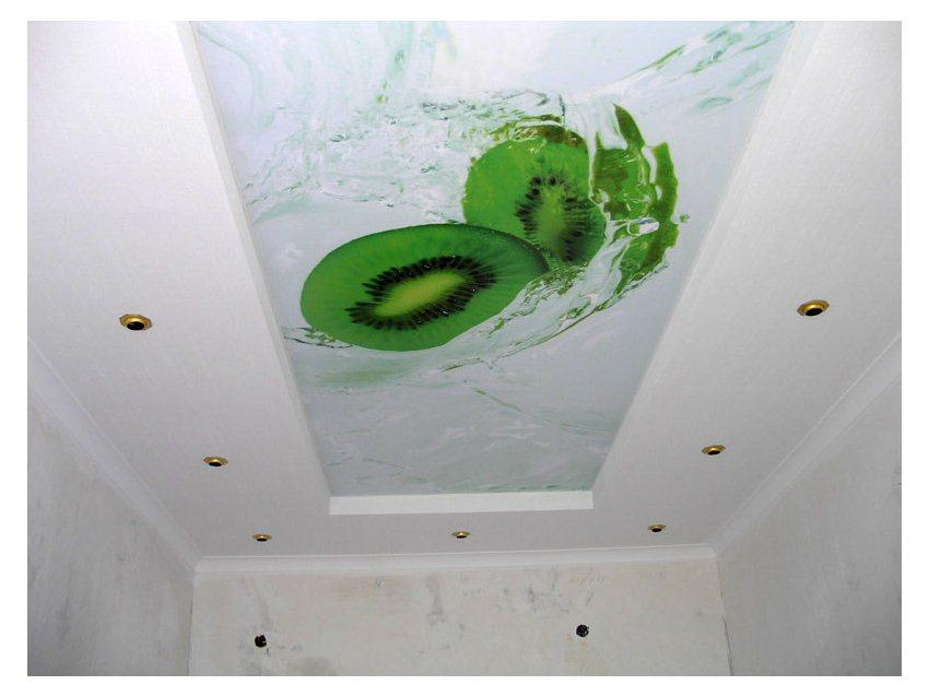 Фотопечать натяжные потолки фото кухня