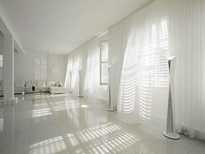 Белые шторый