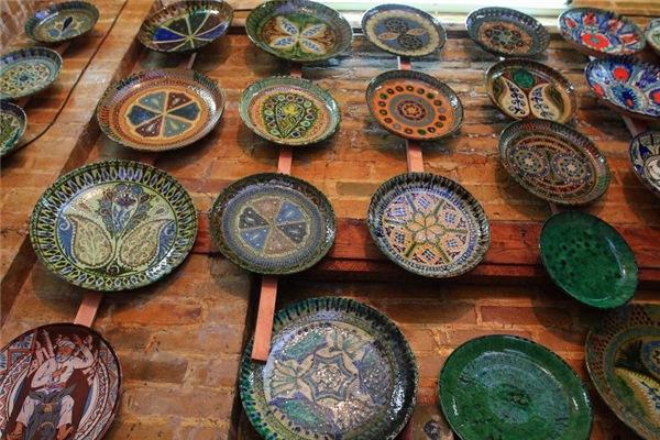 Uzbekistan colorful ceramics