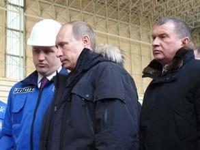 Владимир Путин на СШГЭС – кнопка нажата