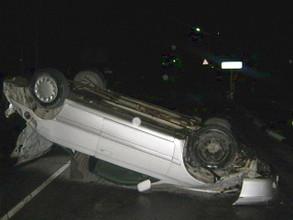 """""""Тойота"""" опрокинулась на крышу, водитель в коме"""