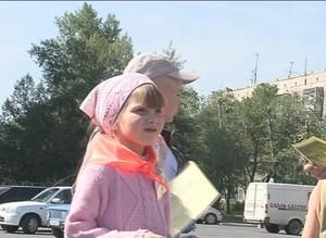 Сегодня на улицах Саяногорска маленькие горожане пытались остановить насилие над детьми