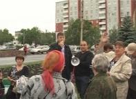 Саяногорцы, уставшие от бесчинства управляющих компаний вышли на митинг