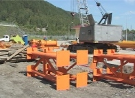 С СШГЭС везут многотонный груз для испытания грузоподъемника на Майнской ГЭС