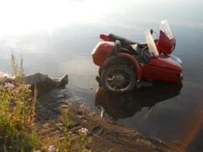 В окрестностях деревни Новониколаевка разбился мотоциклист