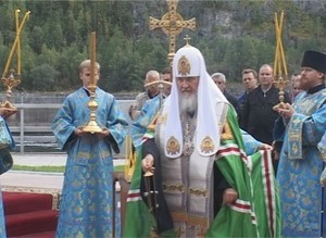 Саяно-Шушенскую ГЭС посетил патриарх Московский и всея Руси