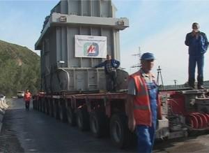 10 сентября через Саяногорск повезут очередной трансформатор для СШГЭС