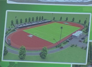В Саяногорск  прибыло покрытие для нового стадиона