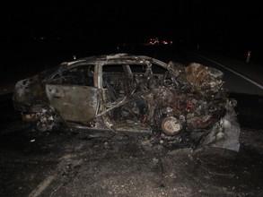 ДТП на трассе Бея-Очуры чуть не стала поводом для еще одной аварии
