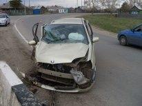 В результате ДТП водитель и пассажир отделались легким испугом