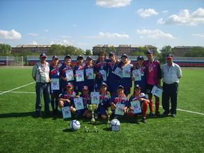 Команда ДЮСШ Саяногорска  - чемпион Первенства Хакасии по футболу