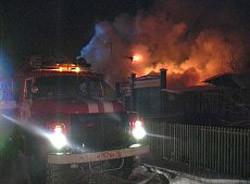 В Майна произошел сильный пожар
