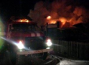 В Саяногорске горел недостроенный коттедж