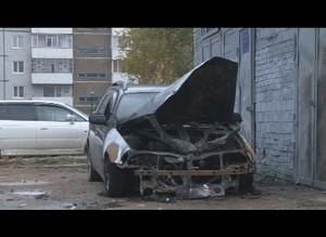 В Саяногорске неизвестные подожгли иномарку