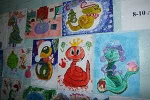 Дети русаловцев нарисовали Новый год