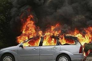 В Саяногорске сгорел автомобиль