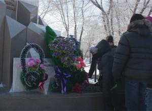 Саяногорцы собрались у ДК «Визит», чтобы почтить память павших воинов