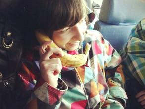 В Саяногорске молодежь устроила банановый флешмоб