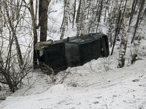 В результате аварии под Саяногорском две машины слетели в кювет