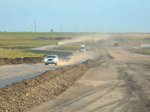 Дорога из Абакана в Саяногорск осталась без асфальта