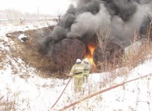 В Саяногорске уже второй раз неизвестные поджигают ёмкости с мазутом