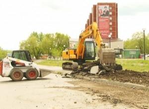 В Саяногорске начался очередной этап строительства городского сквера