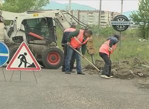 В Саяногорске начался ремонт городских дорог
