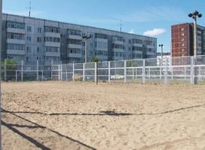 В Саяногорске появилась площадка для пляжного волейбола