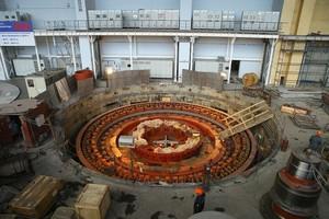 На СШГЭС завершилась сборка основных узлов гидроагрегата №5