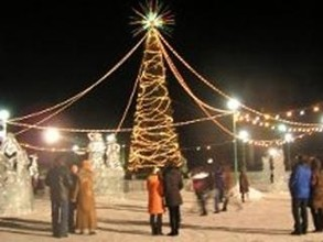 Саяногорск открывает новогоднюю елку