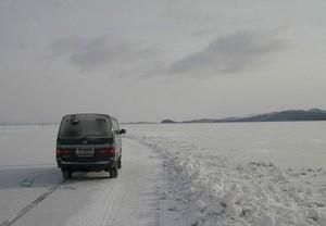 В Новоселовском районе открыта ледовая переправа через Красноярское водохранилище