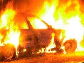 В Хакасии сгорел брошенный автомобиль