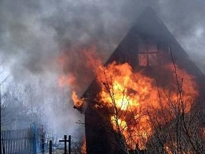 В Хакасии дотла сгорела дача
