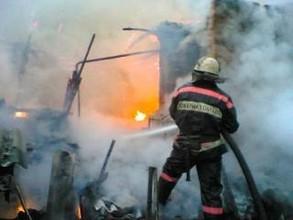 Улица Лучистая в Саяногорске озарилась пожаром