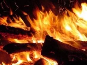 В Саяногорске во время сушки сгорели пиломатериалы