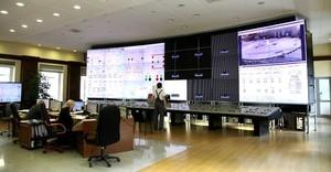 Центральный пульт управления Саяно-Шушенской ГЭС впервые в истории российской гидроэнергетики оборудовали видеостеной