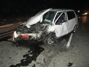 В Хакасии при жестком лобовом столкновении машин водители получили удивительные травмы