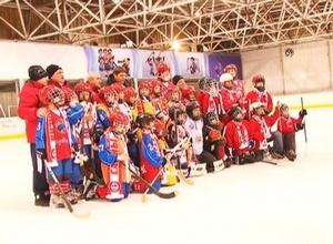 Игроки клуба «Саяны-Хакасия» дали мастер-класс начинающим черемушкинским хоккеистам