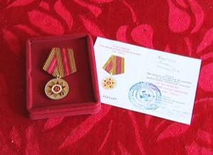 Более 100 саяногорских ветеранов получили медали «70 лет Победы» на дому