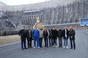 Саяно-Шушенская ГЭС впечатлила спортсменов ЦСКА и почетных гостей Хакасии