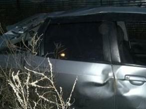 Возле деревни Новокурск в Хакасии опрокинулась Honda Fit
