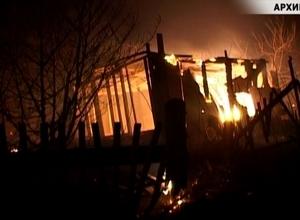 В Саяногорске сгорел еще один дачный домик