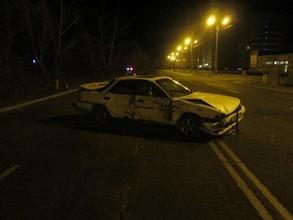 В Саяногорске пьяного водителя остановило дерево
